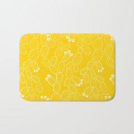 Yellow Sketch Cactus Repeat Bath Mat