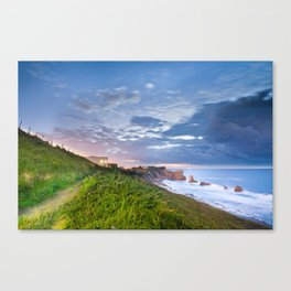 Between sea and land Canvas Print