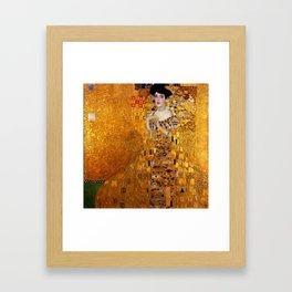 Gustav Klimt portrait painting of Bloch-Bauer Framed Art Print