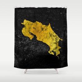 Black Gold   Costa Rica   Pura Vida Shower Curtain