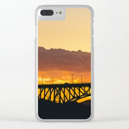 Sunset Silhouettes Clear iPhone Case