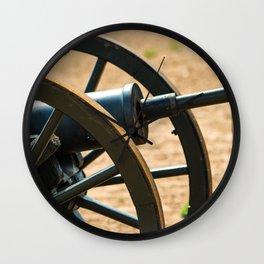 Loading a Civil War Cannon Wall Clock