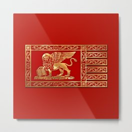 Venetian Lion Metal Print