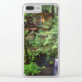 The Nest, Treehouse Point, WA Clear iPhone Case