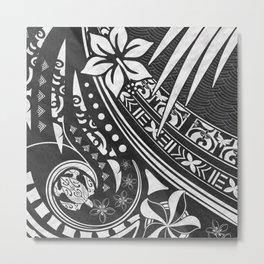 Black Ink Tribal Threads Metal Print
