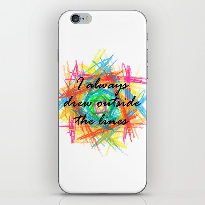 I always drew outside the lines iPhone Skin
