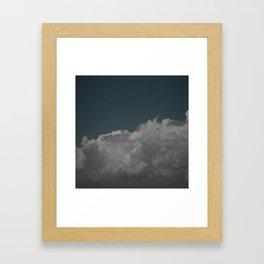 Cloudy blue Framed Art Print