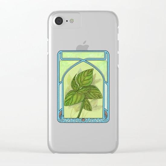 Art nouveau. Basil. Clear iPhone Case
