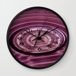 Hands of Time Light-Pink Rippling Water Art Motif Wall Clock