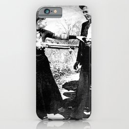 Painting Of Bonnie and Clyde Mock Robert Photo iPhone Case