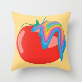 Tomato Acid Throw Pillow