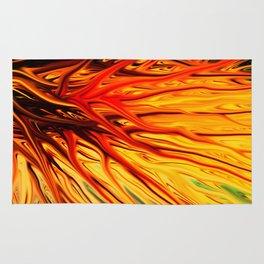 Orange Firethorn by Chris Sparks Rug