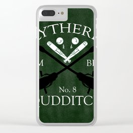Slytherin Team Beater Clear iPhone Case