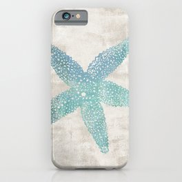 Aqua Starfish iPhone Case