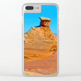 Navajo Sandstone Clear iPhone Case