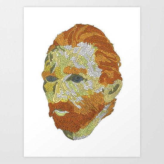 Who is Vincent van Gogh? Art Print
