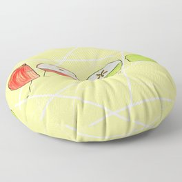 Apple Halves Floor Pillow