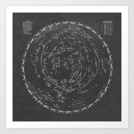 Star Map Art Print