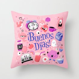 ¡Buenos Días! Throw Pillow