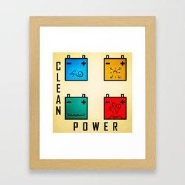 Power Clean Framed Art Print