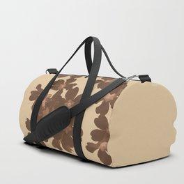 Toffee Soybean Primrose Pattern Duffle Bag
