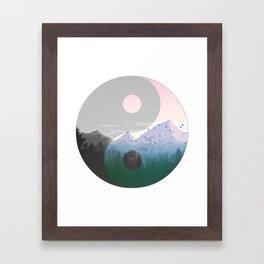 Ying Yang Moutain Nature Framed Art Print