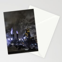 Steel Mill Cleveland, Ohio Industrial Stationery Cards