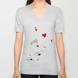 Four Aces Poker Gift Design Idea For Poker Fans Design graphic Unisex V-Neck