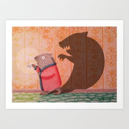 Frightened Phil Art Print