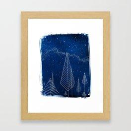 Celestial Trees Framed Art Print