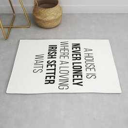 Irish Setter Dog Cute Quote Rug
