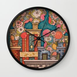 Chimney Fields Wall Clock
