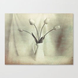 Simple Tulips in Pitcher Modern Country Modern Cottage Art A449 Canvas Print
