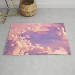 Whimsical Unicorn Lavender Clouds Rug