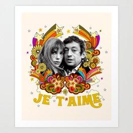 JE T'AIME Art Print