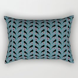 Black bird pattern Rectangular Pillow
