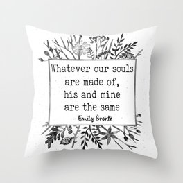His and Mine Throw Pillow