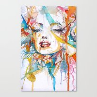 marylin monroe Canvas Prints featuring Marylin Monroe by Maria Zborovska