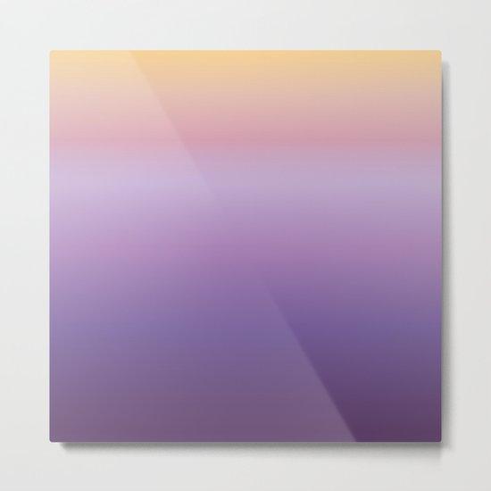 Mindfulness - purple and orange Metal Print
