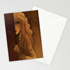 Girl Behind The Door Stationery Cards