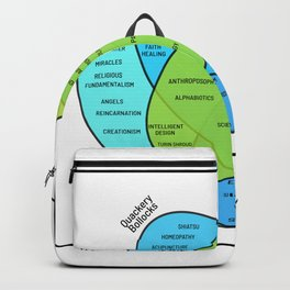 Venn Nonsense Nerd Or Spiritual Person Gift Backpack