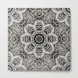 Mehndi Ethnic Style G451 Metal Print