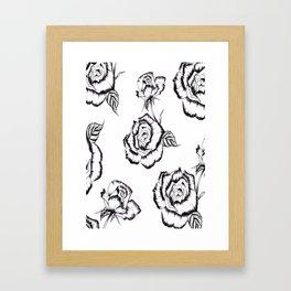 """""""Rose"""" Pattern Framed Art Print"""