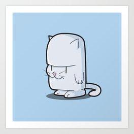 The Little Stubborn Kitty Cat Art Print