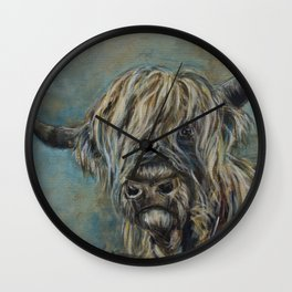 Highland Coo Wall Clock