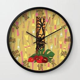 Tiki Pole Art #1 Wall Clock