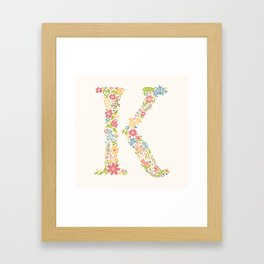 Alphabet K Framed Art Print