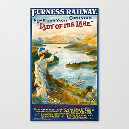 Furness Railway and Lady of the Lake Canvas Print