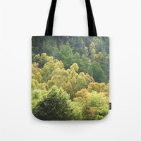 forrest Tote Bags featuring Forrest Green by Bizzack Photography