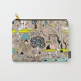 Magical Garden (Beige) Carry-All Pouch